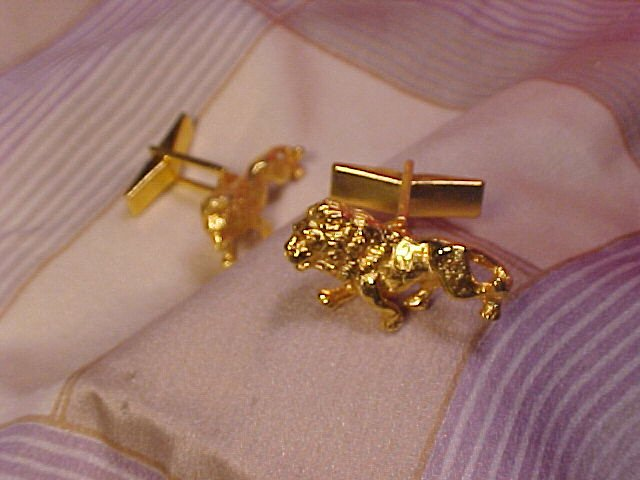 Roaring Lions Lion Cufflinks Cuff Link Set ~ Free Shipping