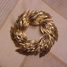 Crown Trifari Laurel Pin Vintage Costume Jewelry