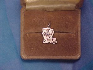 Wells Sterling Silver Louisiana State Charm ~ Free Shipping