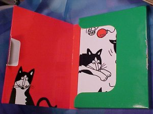 "NEW Peaceable Kingdom Press "" Holiday Fun "" Cat Christmas Cards"