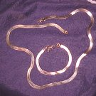 Revlon Sleek Gold Tone Necklace & Bracelet Set ~ Free Shipping