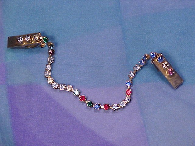 Rainbow Rhinestone Covered Sweater Guard