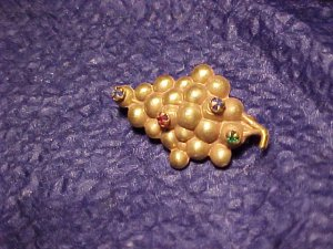 Antique Finding Rhinestone Cluster of Grapes