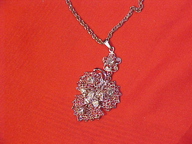 Sterling Silver & Austrian Crystal Butterfly Necklace