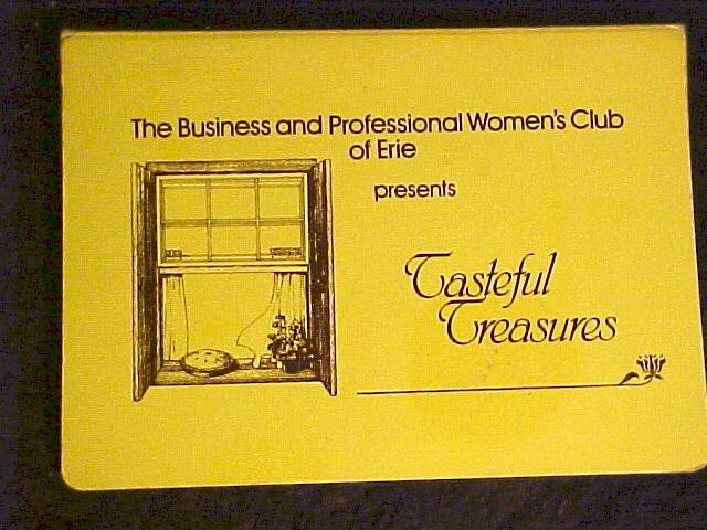 Women's Club Tasteful Treasures Spiral Bound Cook Book