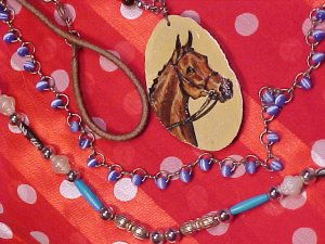 Sandra Snow Arabian Horse Pendant & Necklace Lot