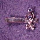 Silver Tone Rhinestone Tie or Scarf Clasp Clip Hindu