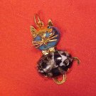 Cat Kitten Gold Charm Pendant Necklace - FREE SHIPPING