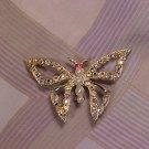 Aurora Borealis Rainbow Butterfly Costume Jewelry PIN