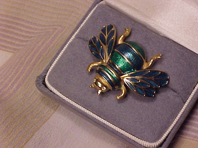 Jewel Enamel Bumblebee Bee Pin Brooch ~ Free Shipping