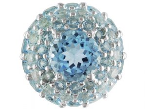 Sterling Silver 13.13ctw Sky Blue Topaz Pendant