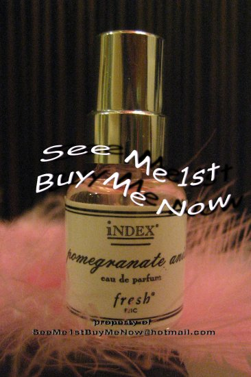original POMEGRANTE ANISE fresh F21C Index Chronicles Perfume Spray ESP Freesia Lily Amber Anise
