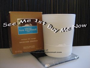 MUSCADE ORANGE Comptoir Sud Pacifique CSP Candle-cedar Sandalwood leather-New in Box!