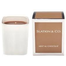 Slatkin & Co MINT AU CHOCOLATE Candle mint chcolat 40+ Hour Burn Time NEW