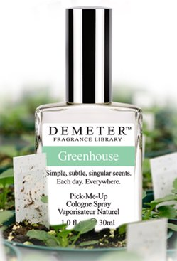 Demeter Fragrance Library GREENHOUSE Pick-Me Up COLOGNE SPRAY leaves blooms humidity scent