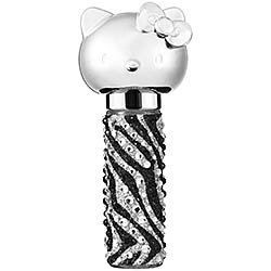 Hello Kitty WILD THING ROLLER GIRL Rollerball Refillable EDP Perfume Black/White/Silver Crystals