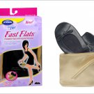 Dr Scholls for Her FAST FLATS Foldable Flexible BLACK Slippers Shoes SIZE 9-10 + Gold Wristlet Purse