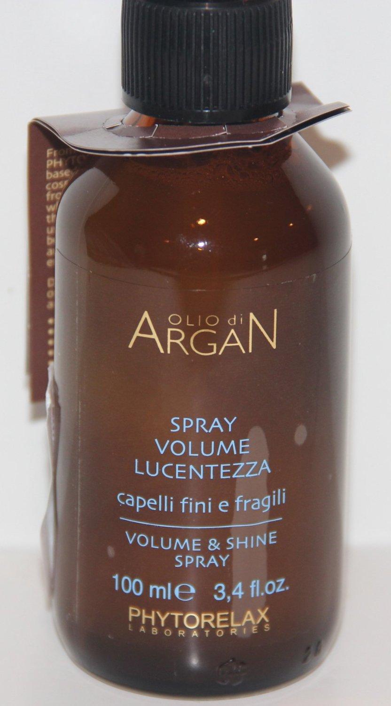 Professional Hair Care PHYTORELAX ITLAY Olio de Argan SPRAY VOLUME SHINE LUCENTEZZA finishing