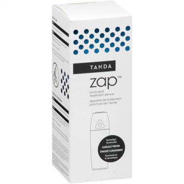 TANDA � White ZAP kill zits/pimples Acne Treatment Device LED Light Technology/Sonic Vibration