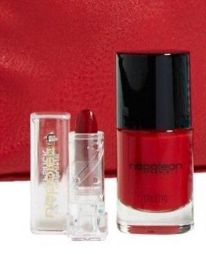 NAPOLEON PERDIS mini Devine Goddess Lipstick APHRODITE deep burgundy red Nail Polish STILETTO