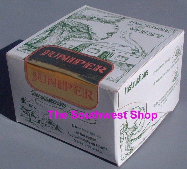 Incense of the West, Box of 40 Cones, Juniper