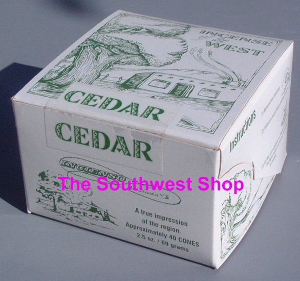 Incense of the West, Box of 40 Cones, Cedar
