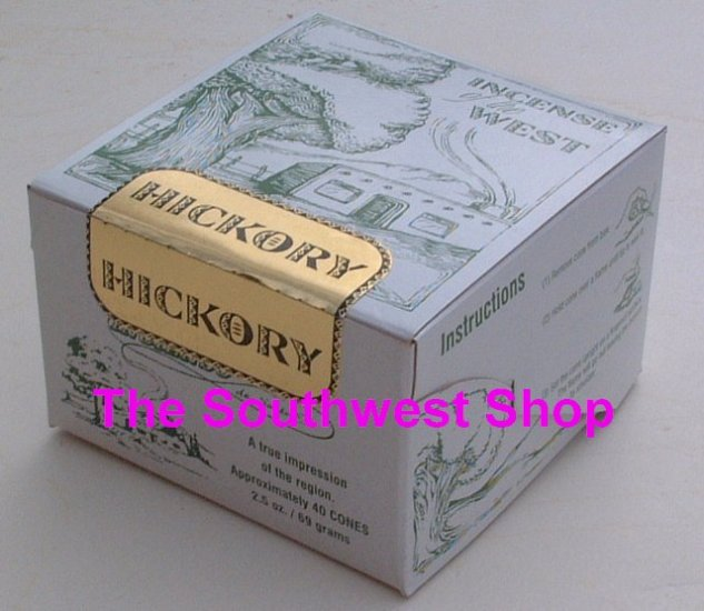 Incense of the West, Box of 40 Cones, Hickory