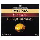 Twinings English Breakfast tea bags x 100