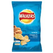 Walkers cheese and onion crisps 14X25g packs from UK