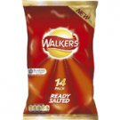 Walkers ready salted crisps 14X25g packs from UK