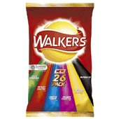 Walkers crisps variety pack 26X25g packets from the UK
