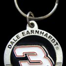 Dale Earnhardt Pewter and Zinc Key Ring