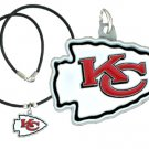 Chiefs Rubber Cord Logo Necklace.