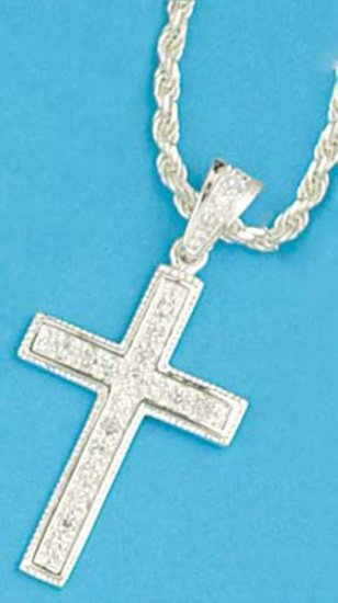 Mens Silver Cross