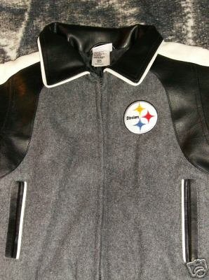 Steelers Simulated Leather Jacket Toddler 3T NWOT Pittsburgh