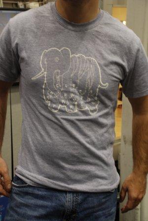 Grey Elephant T- Clock Hand Strangle