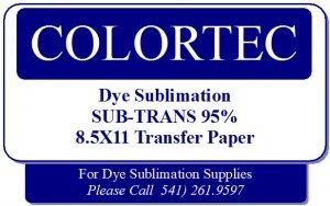 Dye Sublimation Inks -SUB-TRANS 95% Plus Transfer Paper