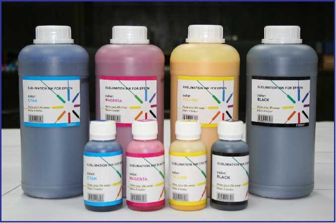 Dye Sublimation Inks For The All Epson 4 Color Printers