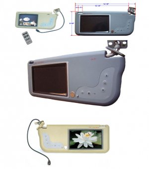 Replacement Sun Visor with build-in TFT 7'' LCD Monitor