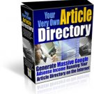 "Massive Google Adsense Income -  Run ""Your Very Own Article Directory"""