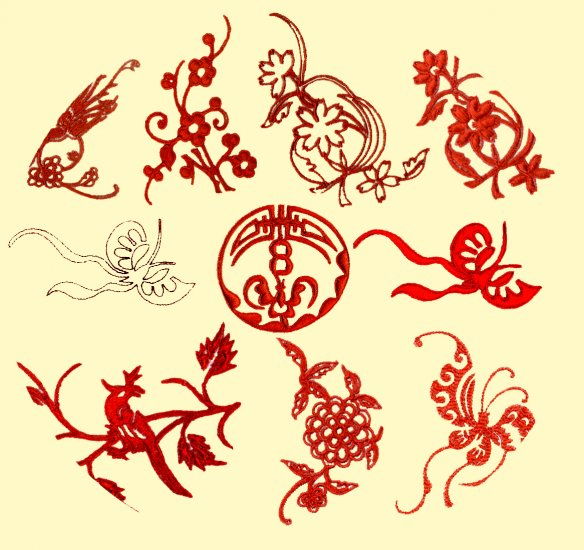 *** Machine Embroidery Chinese Folk Art Designs***