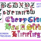 Machine Embroidery Designs ALPHABET W/ TULIPS