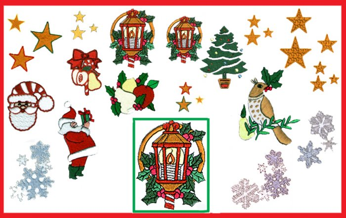 Machine Embroidery Designs CHRISTMAS Set #2