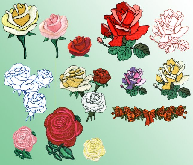 Machine Embroidery Designs ROSES ROSES ROSES