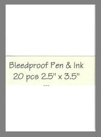 Bleedproof Paper precut blank art cards