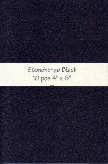 4x6 Black Stonehenge Paper