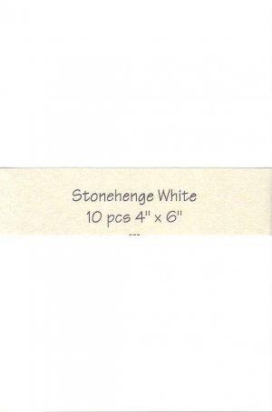 4x6 White Stonehenge Paper