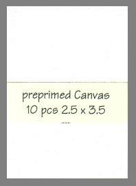 preprimed Canvas 10 precut blank art cards