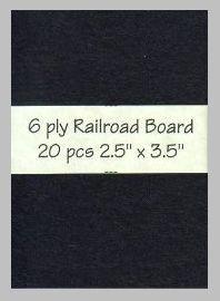 6 ply black Railroad Board precut blank art cards