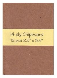 heavy-duty Chipboard 12 precut blank art cards